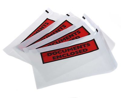 A6 Printed Document Enclosed Wallet Envelope Pouch Sticky Self Adhesive Back
