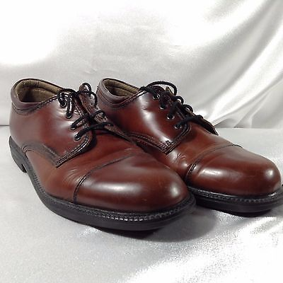 a07c9cbefbdf DOCKERS Men s Brown Leather Lace Up Dress Formal Oxfords Shoes Size 9.5 M