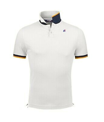 Polo K-Way uomo vincent contrast white ss19