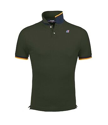 Polo K-Way uomo vincent contrast green africa ss19