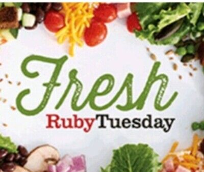 $25 Ruby Tuesday Gift Card Voucher No Exp! Free email Delivery &Free offers incl
