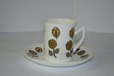 Retro 1960s Elizabethan bone china tea cup/ coffee cup and saucer
