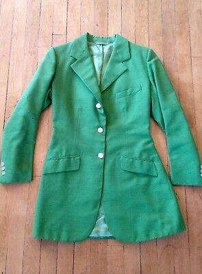 5fd5135eaf83c BRITTANY Apparel Green Riding Jacket Women's Equestrian English Show Coat  S/M