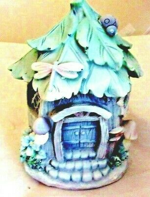 "Latex fairy house mold with plastic backup 7.5""H x 5"" x 5"""