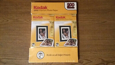 New Kodak Ultra Premium Photo Paper 2 Boxes 4 X 6 200 Sheets Total High Gloss