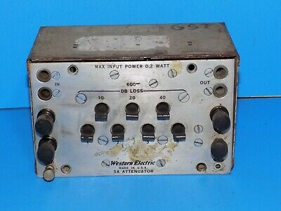 * Vintage Western Electric Model 5A Attenuator