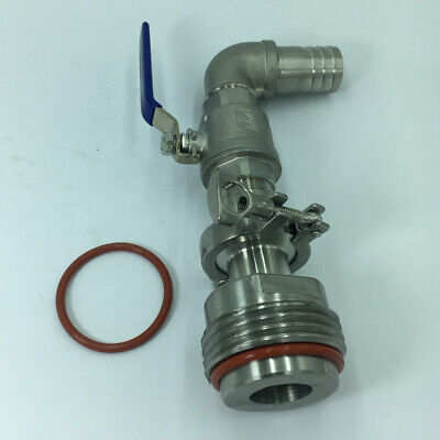 90° Ton Barrel Replacement Outlet Oil Drum Valve for Oil Water Outlet 32MM