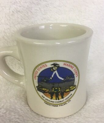 USMC Air Ground Combat Center Mil-art China Career Collectible Mug Rare