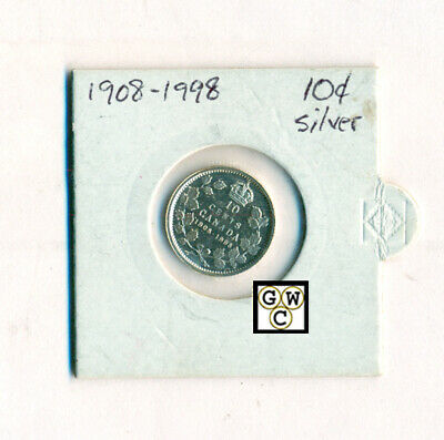 1908-1998 Canada  Silver Proof 10 Cents Coin (OOAK)