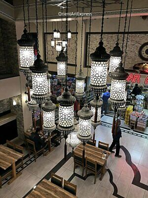 Turkish Ottoman Blow Lamp 18 Lantern Chandelier Hanging Lamp Foyer Otel Lamp