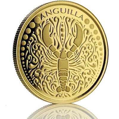 SPECIAL PRICE! 2018 1 oz Anguilla Lobster .9999 Gold Coin BU in Certi-Lock #A476