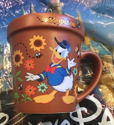 Disney Epcot Flower And Garden Festival 2019 Donald Passholder Pot Plant MUG