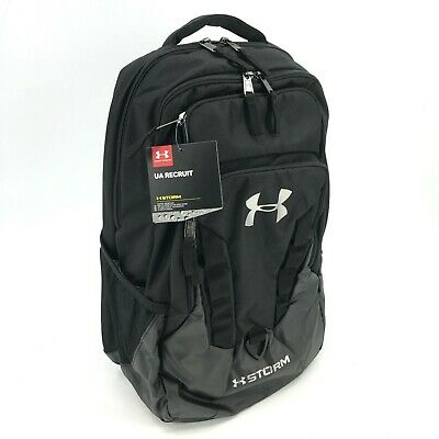 86c7477f8822 NEW UNDER ARMOUR Storm Recruit Backpack 1261825 - Black #4269