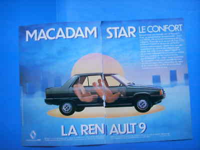 Publicite Advertising 014 1981 Renault 9 Macadam Star Other Breweriana Double Pages Collectibles
