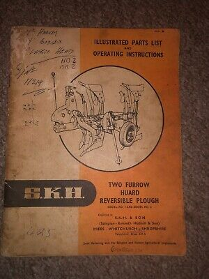 Collectables Salopian Huard Reversible Plough Operating Instructions