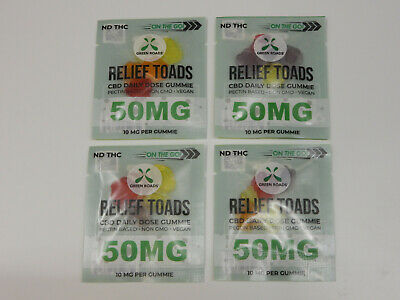 GREEN ROADS 20 mg On The Go CBD Terp Toads | (4) Four Packs