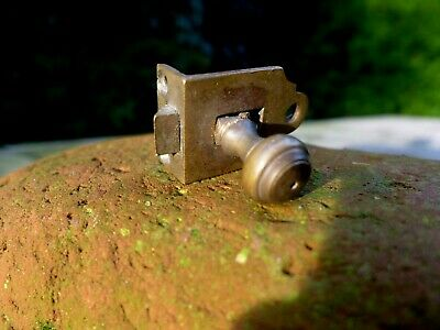 Vintage Small Brass Door Lock Cabinet Window Lock Cupboard Project Collector