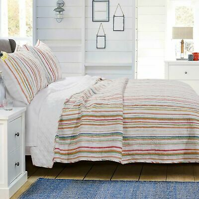 Greenland Home Fashion Sunset Stripe Quilt & Pillow Sham Set, Multicolor