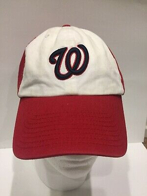 462ae7e929278 Washington Nationals MLB The Franchise Men s Fitted Cap Hat Size Large  White Red