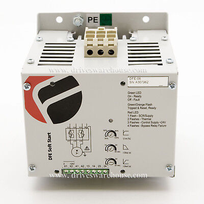 40 HP, 30kW, 55 Amps, 480VAC, Int-Bypassed Softstarter, Trip Class 5, DFE-08