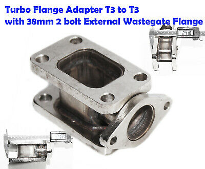 Steel Turbo Manifold Flange T3 to T3 Adapter Conversion w/38mm 2-bolt Flange