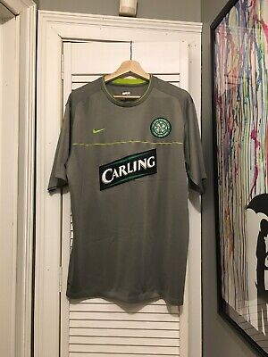 5027773a8 Celtic Football Club NIKE Grey Green Soccer Jersey CARLING Irish Ireland XL