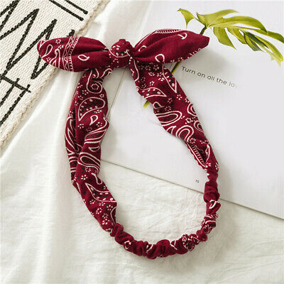 Knotted Twisted Turban Bows Headband Floral Hairband for Women Girl Head Wrap#