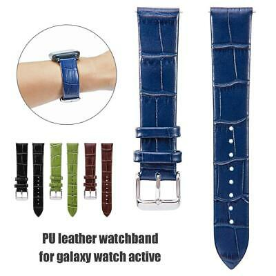 For Samsung Galaxy Watch Active PU Leather Watchband Bracelet Wrist Strap 20mm