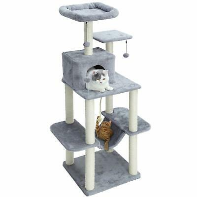 """PAWZ Road 60"""" Cat Tree Multilevel Cat Towers with Luxury CondosFully Wrapped ..."""