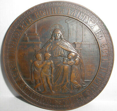 Rare Antique Imperial Russian bronze table medal honor Maria Fedorovna 1748-1835