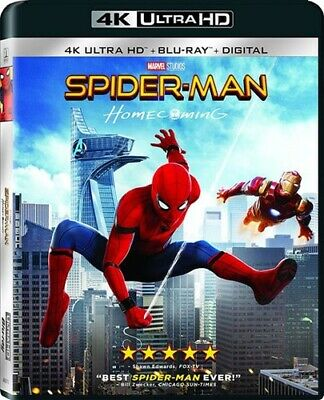 Spider-Man: Homecoming (2 Disc, With Blu-ray) 4K ULTRA HD BLU-RAY NEW