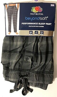 8fc23f824a9 Fruit of the Loom Men s Beyond Soft Performance Sleep Lounge Pants Size 2XL  NEW