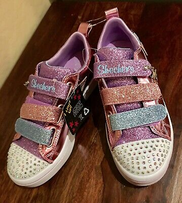 3f02b8aee2cd8 New Skechers Pink Twinkle Toes Twi-Lites Twinkle Stars Light Up Sneakers  Size 3