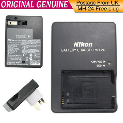 Genuine Original NIKON MH-24 Charger FOR EN-EL14 P7200 D5100/D3200/D5300/D3300
