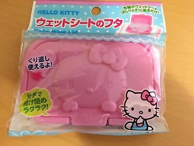 Sanrio Kawaii Hello Kitty Lid of Wet Sheet Wipe (Re-usable) Japan limit for baby