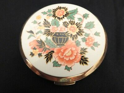 Vintage Floral Stratton Compact Made In England