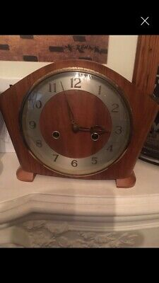 Wooden Chiming Clock Antique