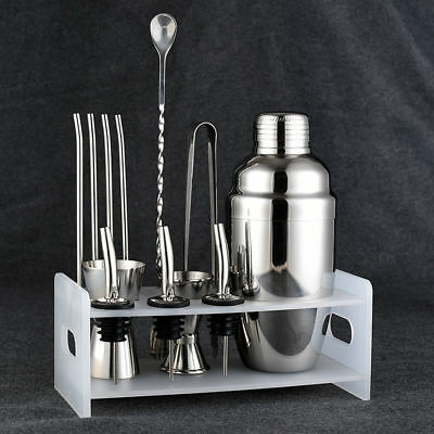 Fsshion Cocktail Shaker Set Stainless Steel 5 Piece Kit Set
