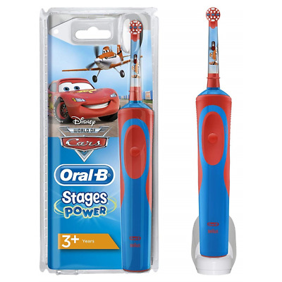 SPAZZOLINO ELETTRICO PER BAMBINI Oral-B Stages Power Cars Planes 3+ YEARS D12...