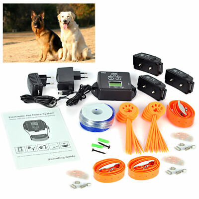 Hidden Dog Pet Containment System Electric Shock Boundary Control Fence Collar