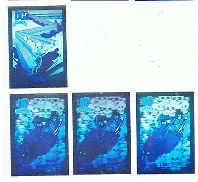 DC Cosmic Cards - Hologram Hall of Fame Chase - 4 Card Lot - Impel 1992