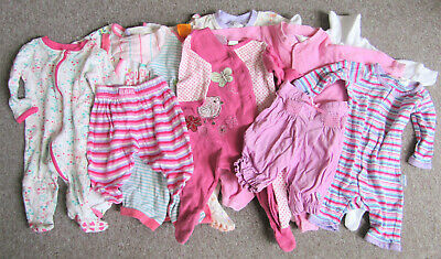 Bulk Lot of Baby Girls Size 000 Clothes, 12 Items, Excellent Cond, Pumpkin Patch