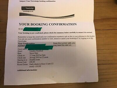 Double room Hotel London Stratford 17 August 2019