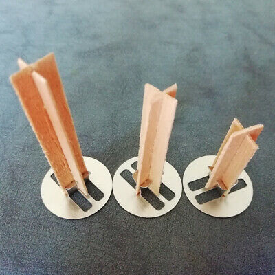 10 Pcs  Wooden Candles Wicks with sustainers for Candle Making DIY Craft