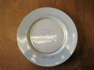 """Paragon Bone China England Z1110 Dinner Plate 10 5/8"""" Gold Blue Grey 8 available"""
