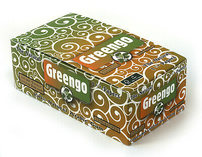 1 box - Greengo Unbleached Natural rolling paper size 1 1/4 - total 50 booklets