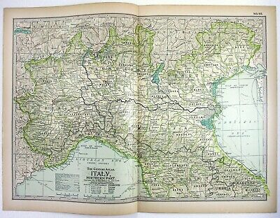 ORIGINAL 1897 MAP of Southern Ohio by The Century Company ...