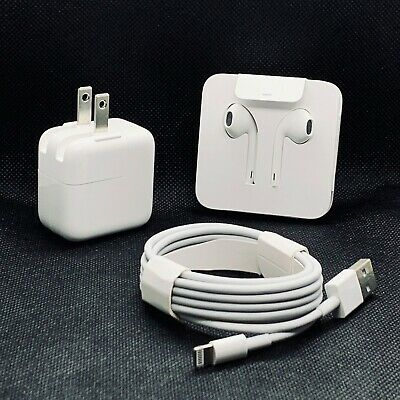 New OEM Apple iPhone kit Cable USB Charger Earpods For 7 8 X Xs Max XR Original