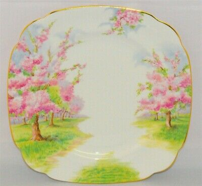1- Royal Albert Blossom Time Square Dinner Plate England ( 12 Available)