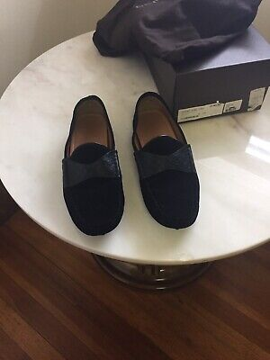 4ff25624f66 GUCCI GG MEN S BLACK Suede with LEATHER embossed GG LOAFERS US SIZE 10.5 G  ...